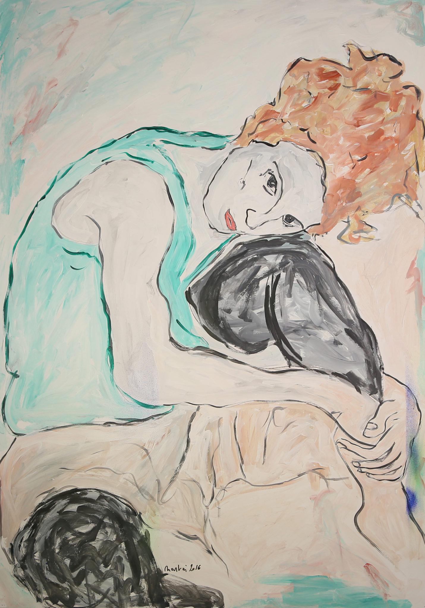 Portrait d'après Egon Schiele
